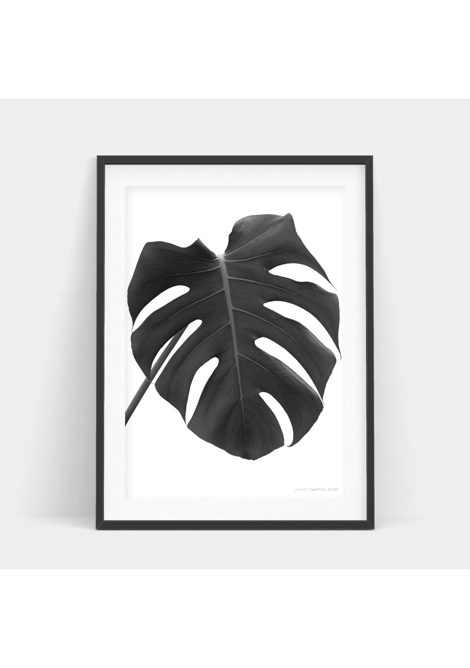 Simply Creative - Monochrome Monstera - A4 Monochrome Print