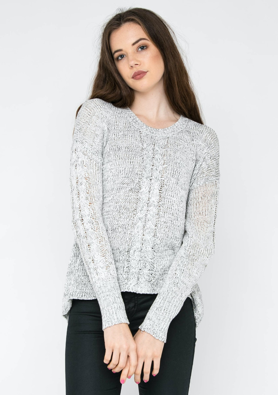 MINKPINK - Astronomy Ribbon Knit Jumper - Salt/Pepper