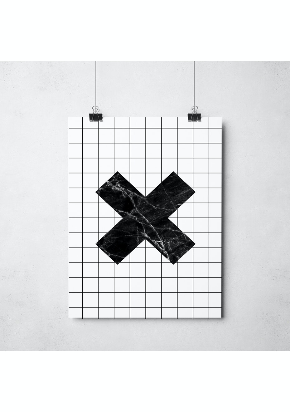 Simply Creative - Grid Cross - A3 Monochrome Print