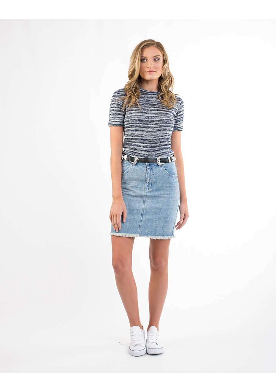 All About Eve - Jam Skirt - Light Blue