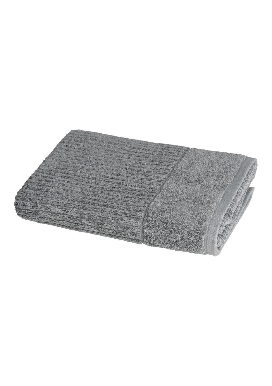 Conran Signature Rib Bath Towel Concrete