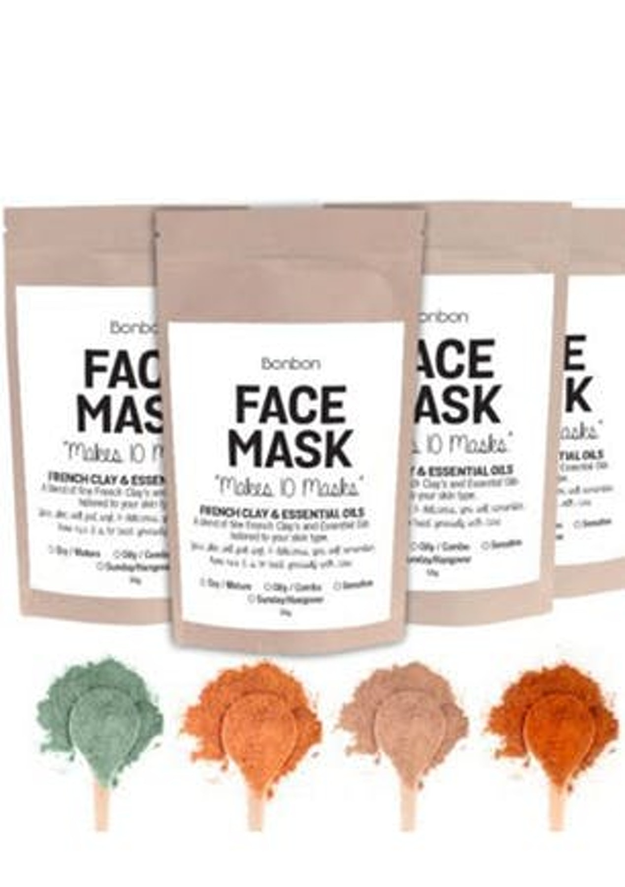 Bonbon Vegan French Clay Face Mask Oily Combination And Acne Skin Acnes Tea Tree Oil 50g Restock Onceit