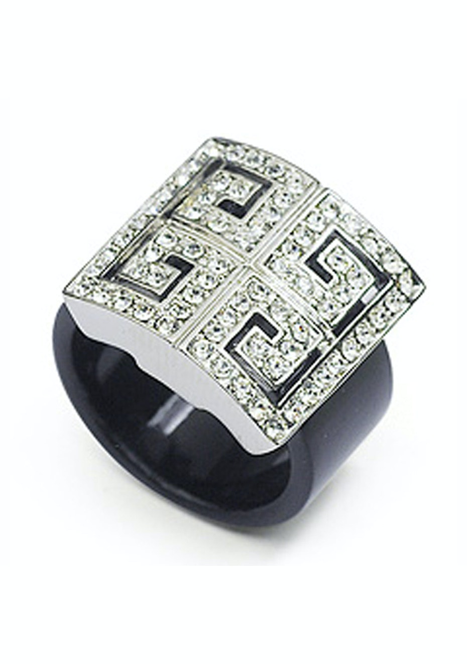 Aztec Ring Embellished with Crystals from Swarovski