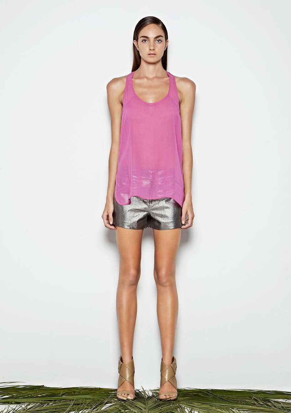 West 14th - High Line Shorts - Metallic Silver