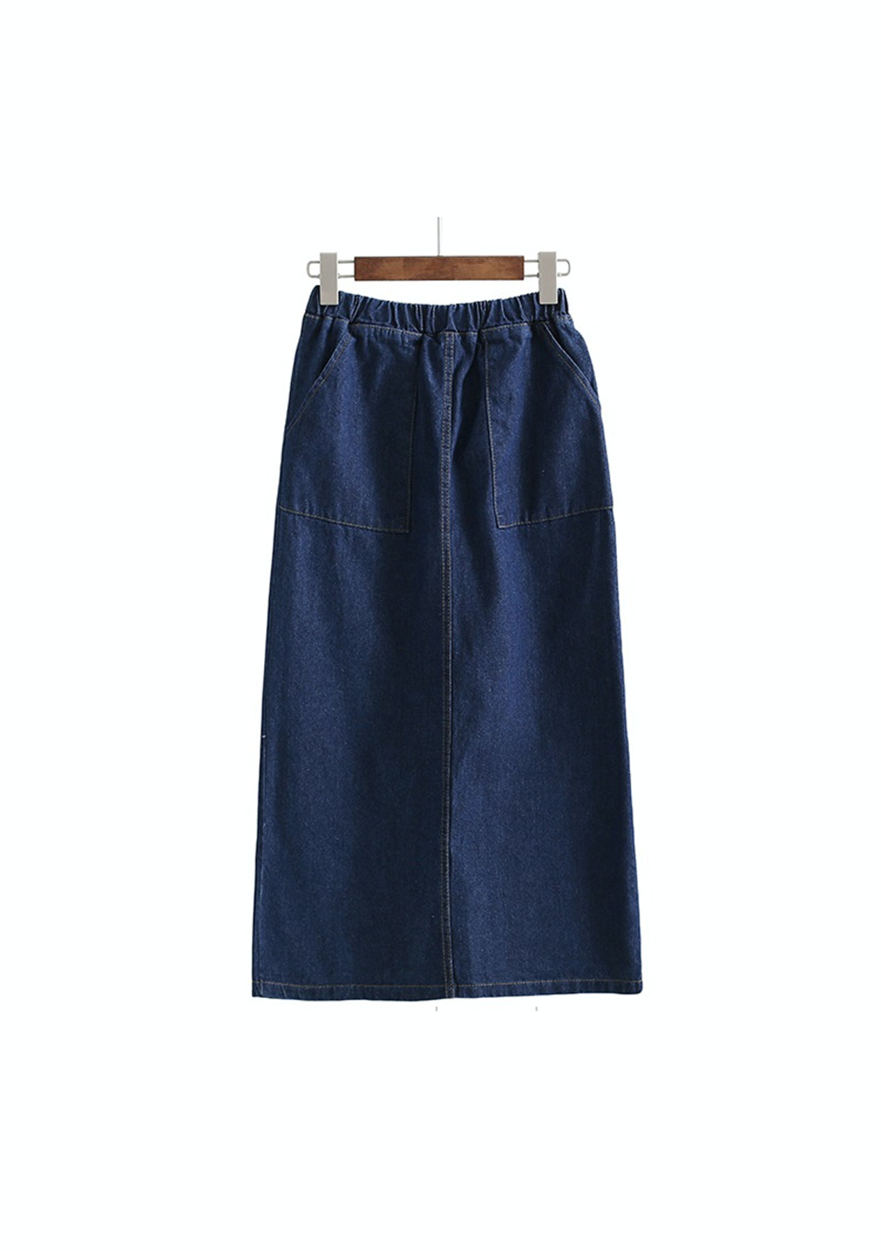 1eaf2ac5d83b9 Lulu Denim Pencil Skirt - Dark Blue - Garage Sale Womens - Onceit