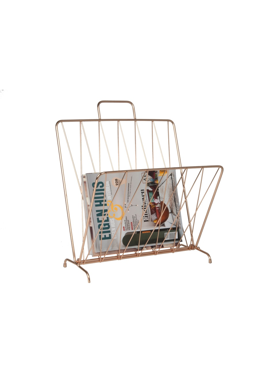 Pt Home - Magazine Rack 'Diamond Raster' - Copper