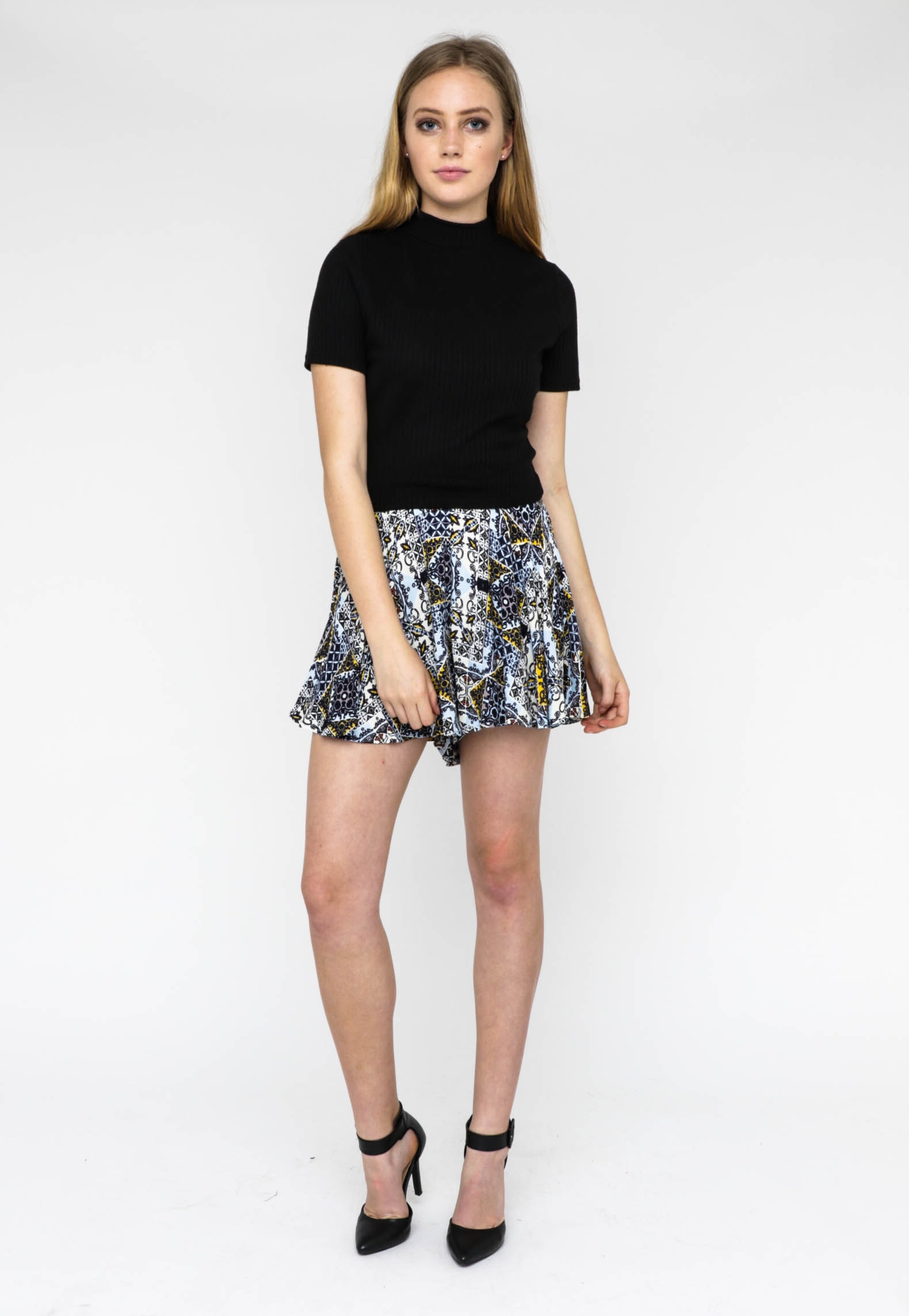All About Eve - Love In Sight Skort - Blue Multi