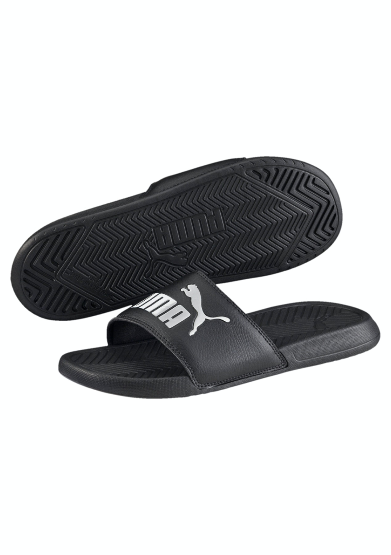 691243685fdb46 Puma - Popcat Slides Black-White - Womens - Summer Slides and Sandals -  Onceit