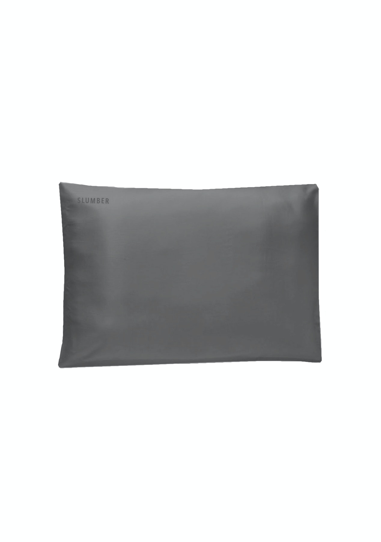 SLUMBER 100%  SILK PILLOWCASE - TWO PACK - Charcoal