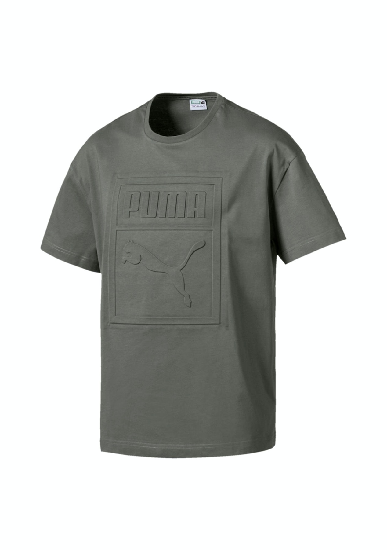 5455d27a1523 Puma Mens - Archive Embossed Print Tee - Castor Grey - Free shipping Winter  Activewear - Onceit