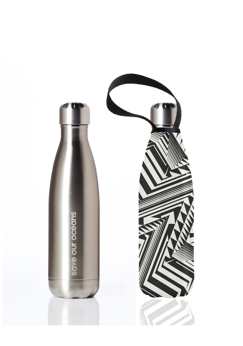 BBBYO - Future Bottle+ Carry Cover (Aztec Print) - 500 ml Silver
