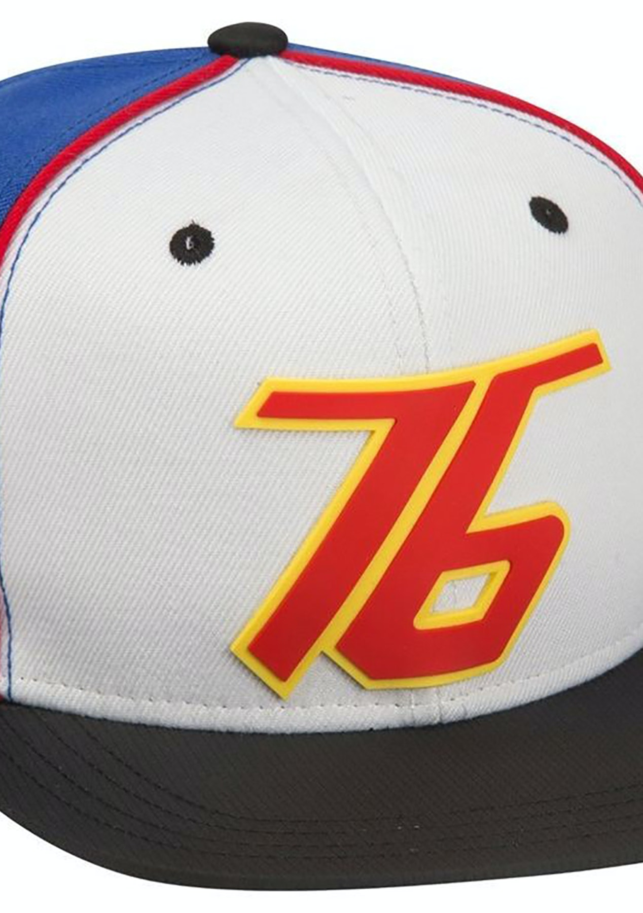 9cd9238e6 Overwatch Soldier 76 Snap Back Hat One Size White Blue - The Big ...