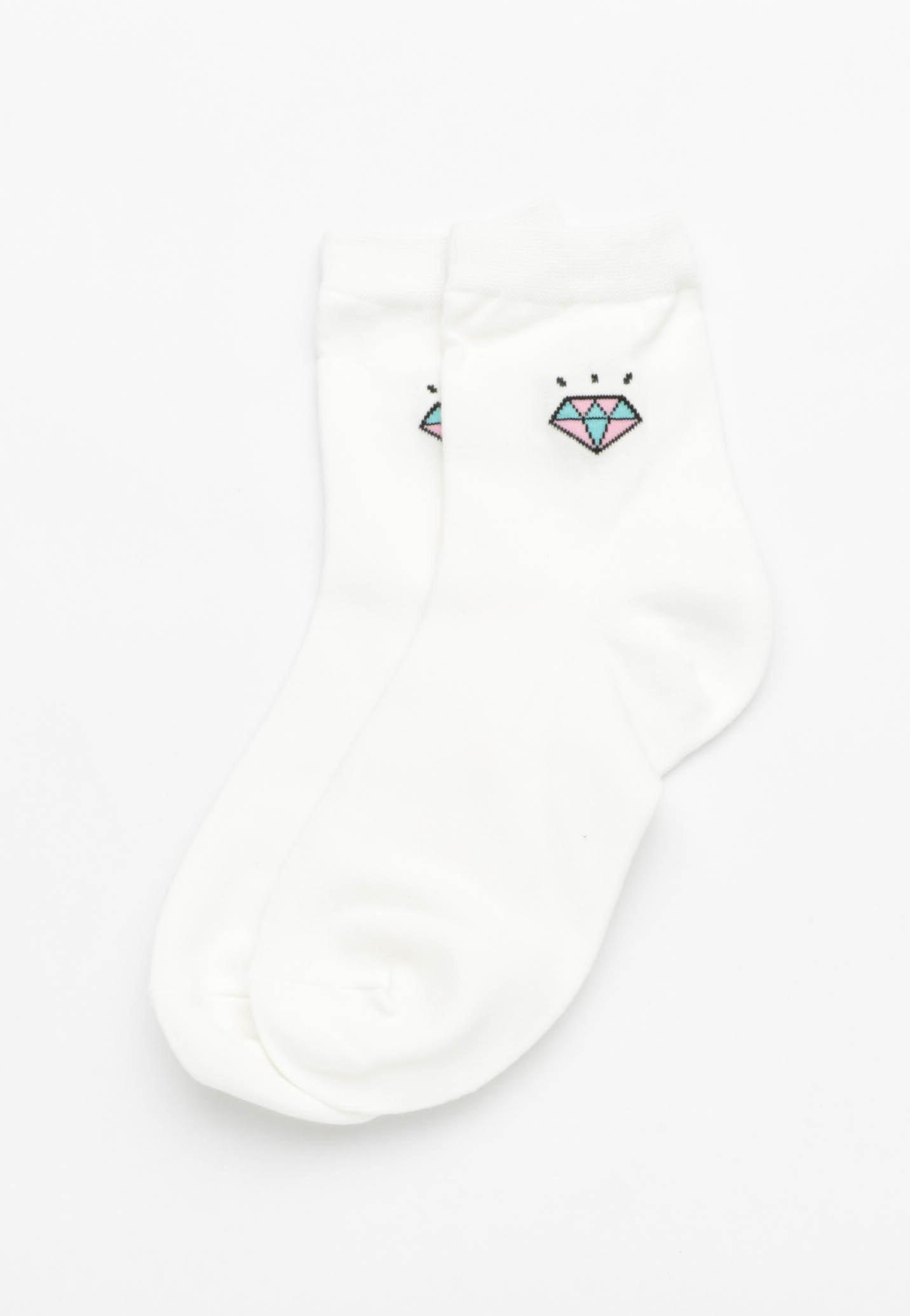 Gem Socks - White