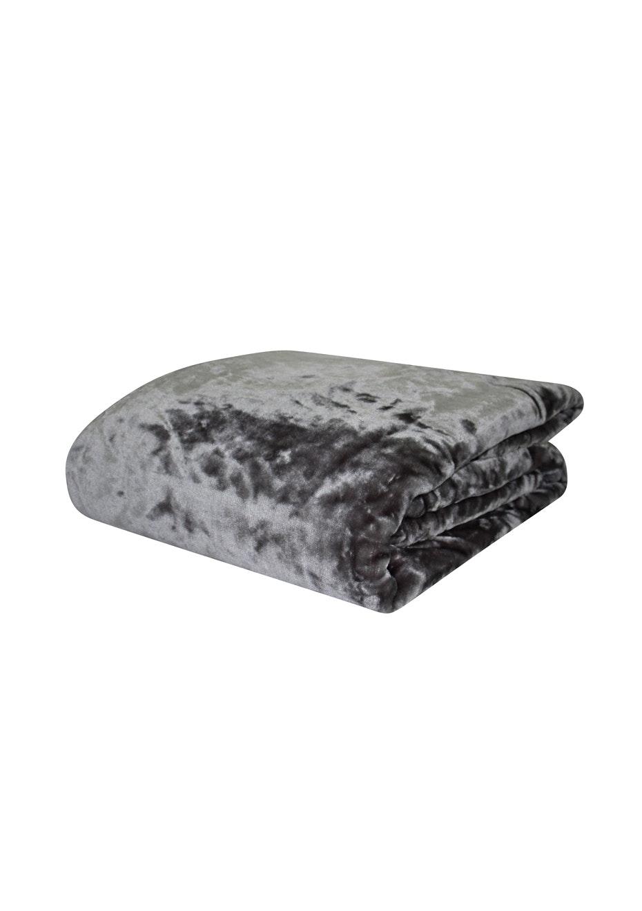 Mink Blanket - 400Gsm - Queen Bed - Granite