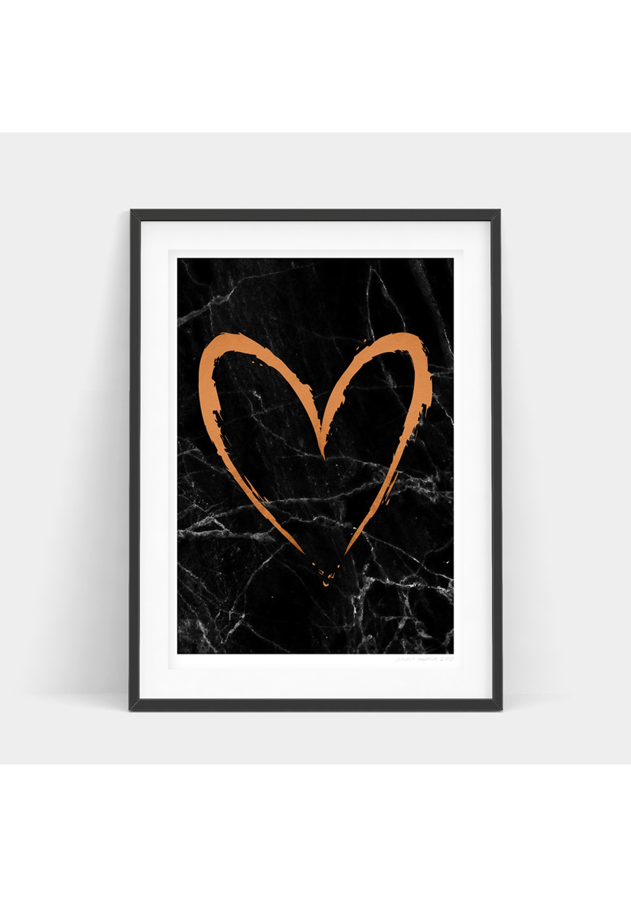 Simply Creative Dark Copper Heart Simply Creative Designer Art