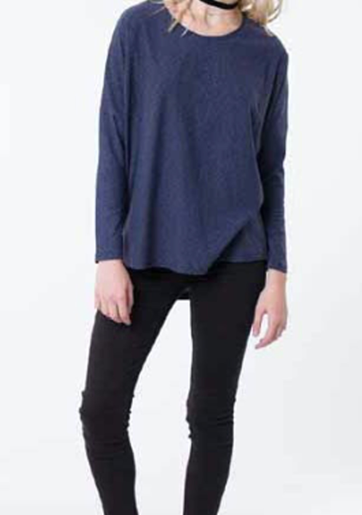 a1f7a0f39e Silent Theory - All Over Again Ls Top - Navy - Under $20 Womens Garage Sale  - Onceit