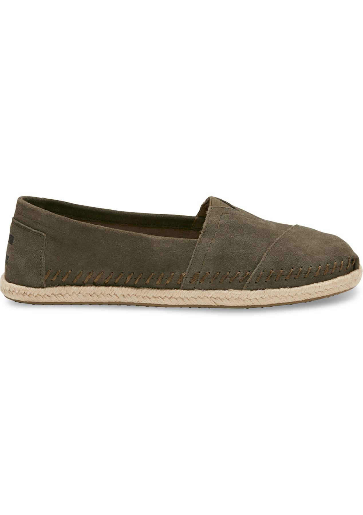 a8a96ce65 Toms - Womens Olive Suede Rope Alpargata Espadrilles - Big Brand Shoes  Outlet - Onceit