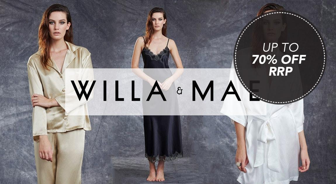 Willa & Mae 100% Silk Sleepwear