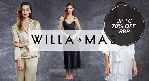 Image of the 'Willa & Mae 100% Silk Sleepwear' sale