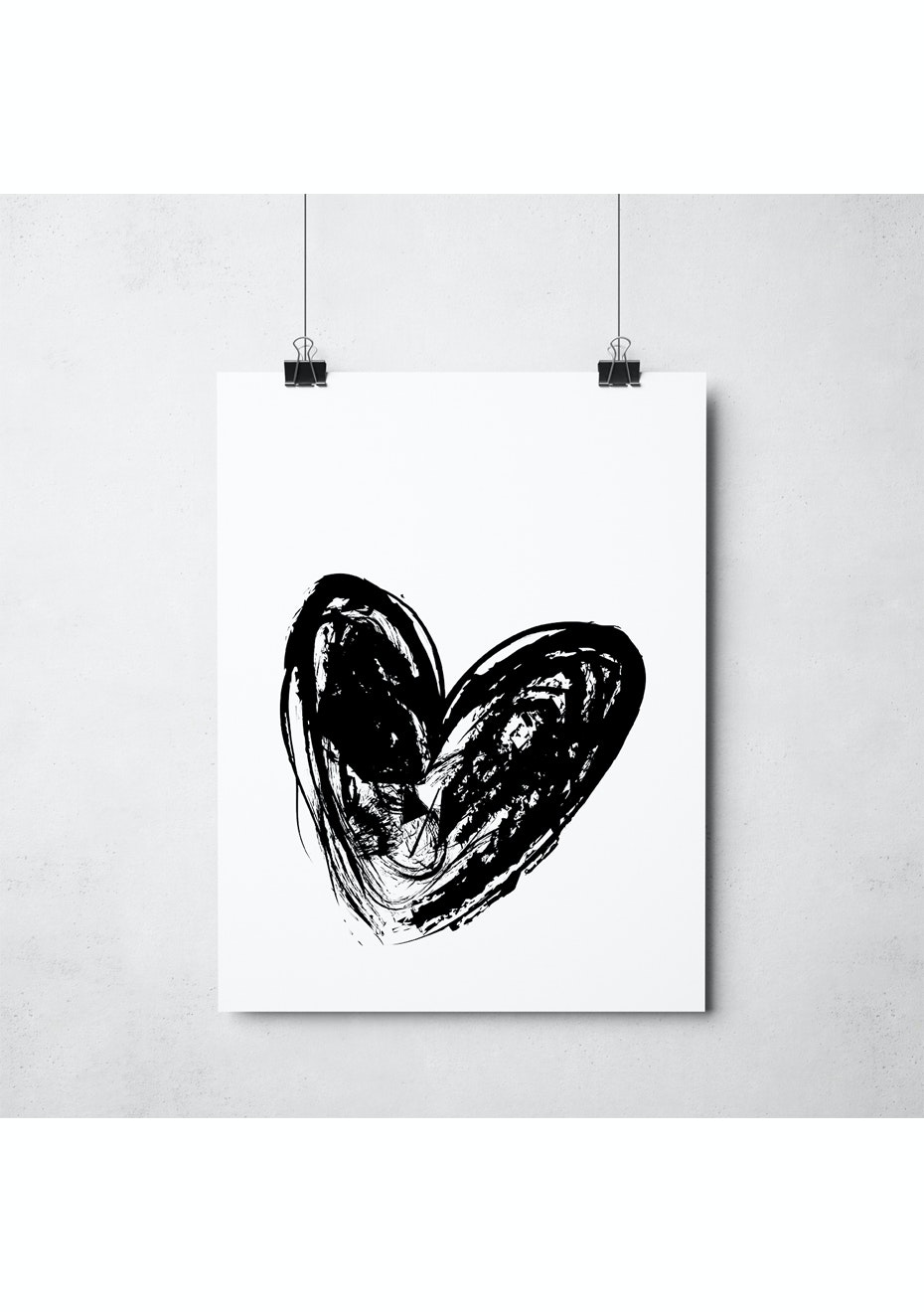 Simply Creative - Heavy Heart - A3 Monochrome Print