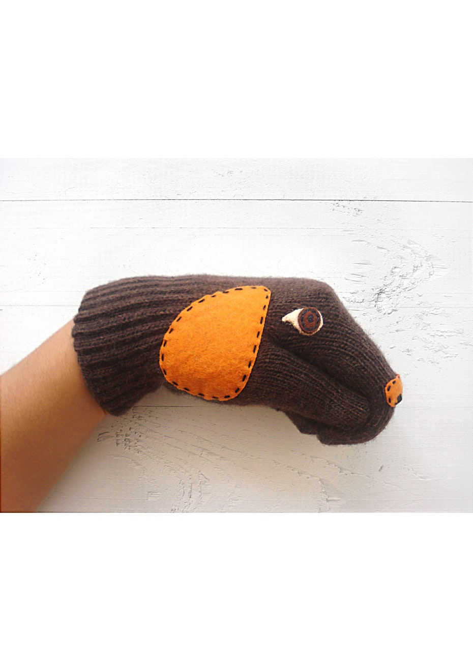 Puppy Gloves - Chocolate Brown