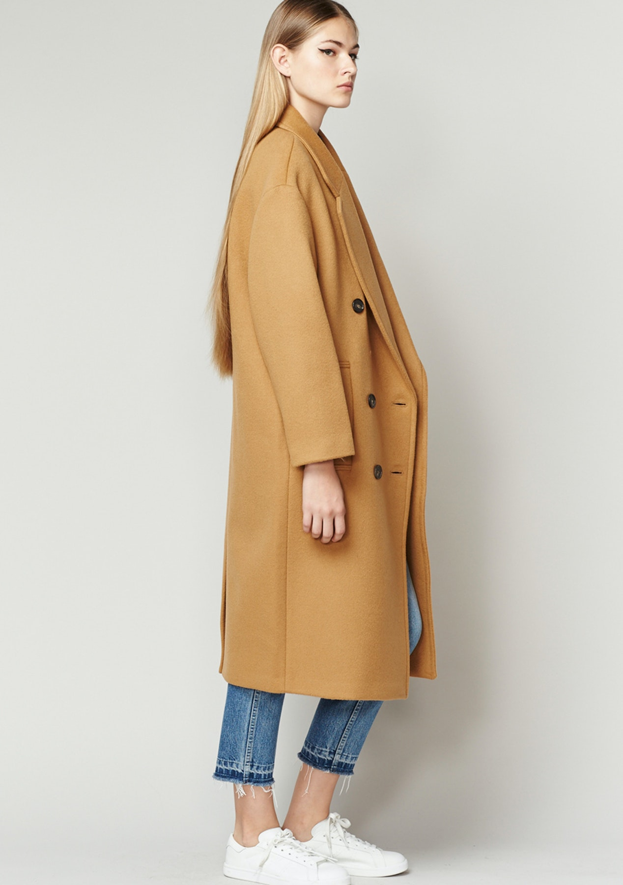 Achro - Long Wool Coat - CAMEL - Rummage Rack - Onceit