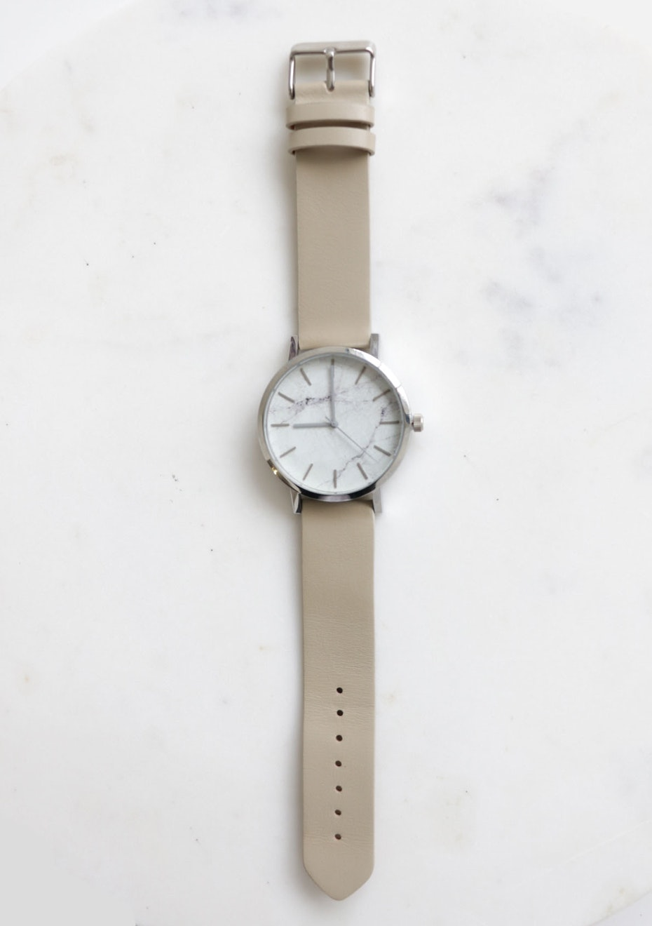 43MM Grey Marble Watch