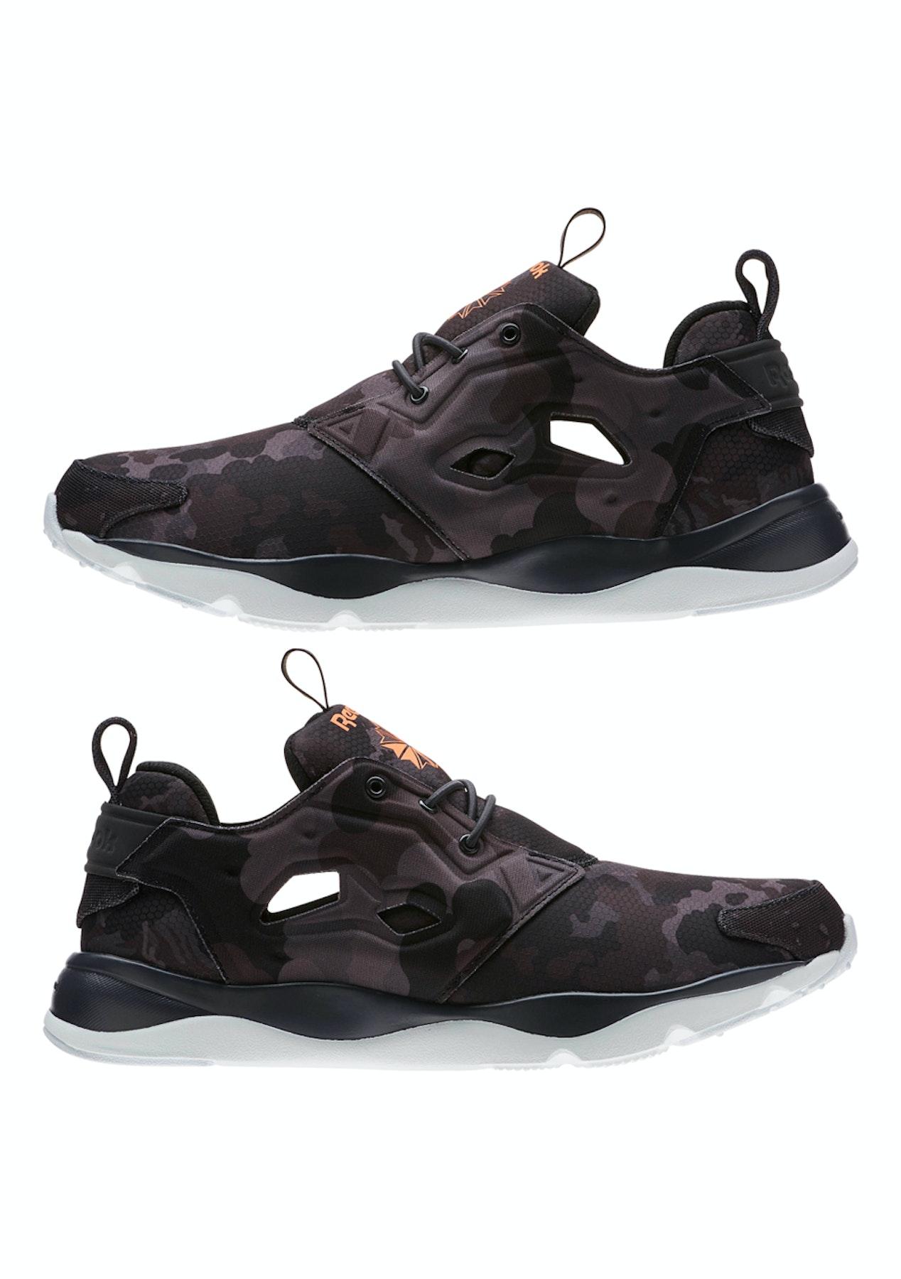 fafb23c04cf38d Reebok Mens - Furylite Cc Coal Wild Orange Blu - Free Shipping Shoe Sale -  Onceit
