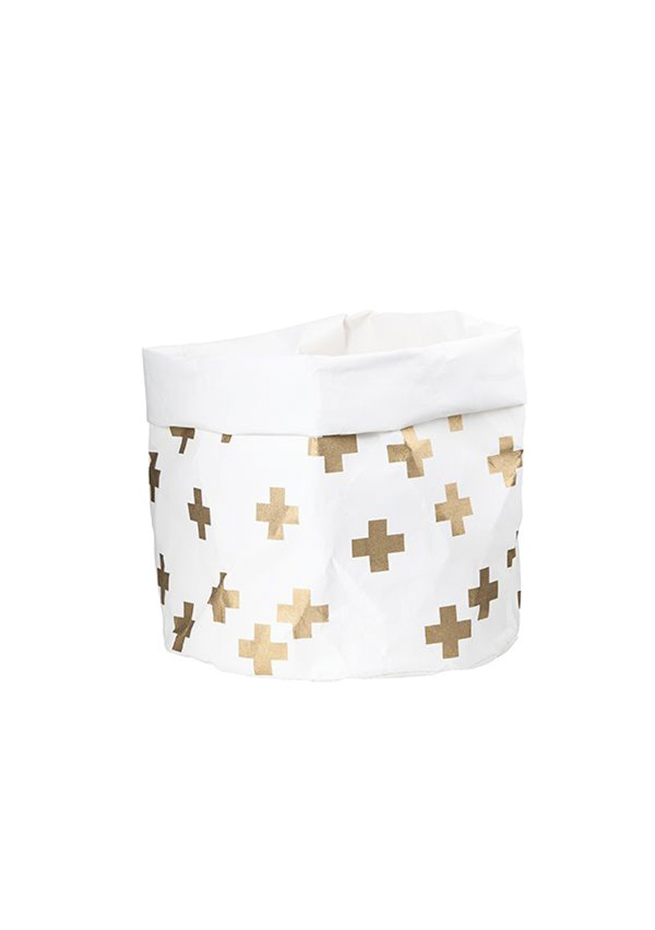 General Eclectic - Wash Paper Bag Large Gold Cross