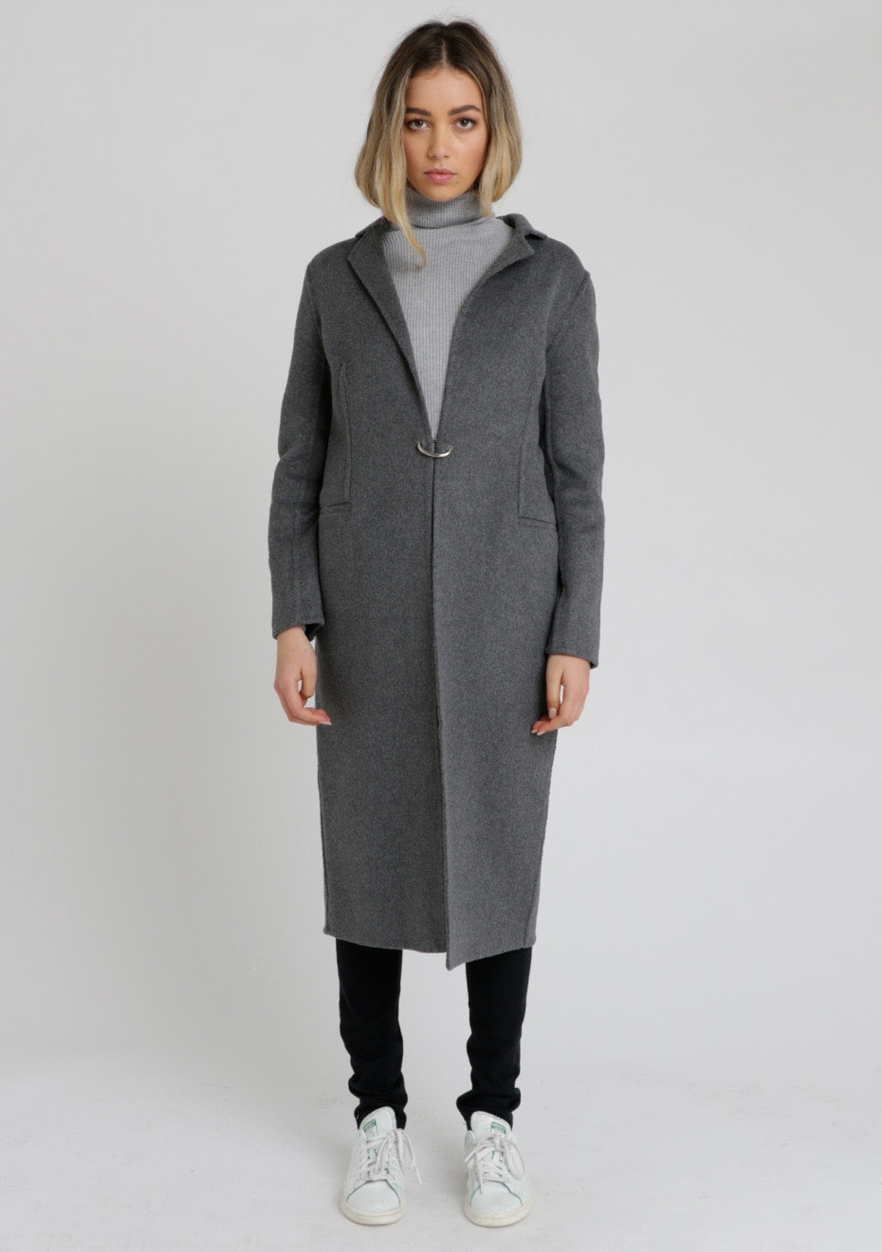 ELSIE LONG COAT  - MARLE DARK GREY