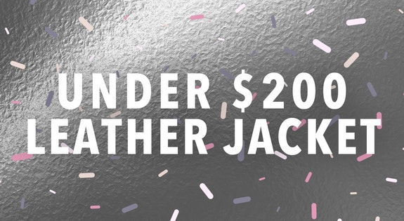 Under $200 Leather Jacket