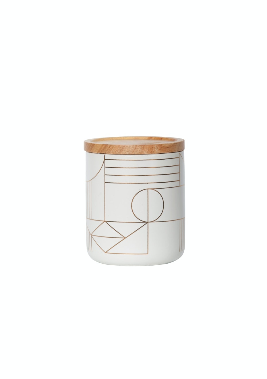 General Eclectic - Medium Canister Gold Deco