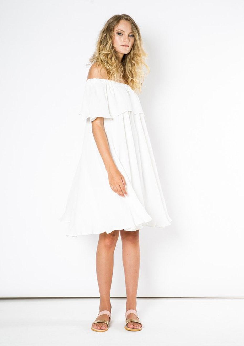 Julian Danger - Molly Dress - White
