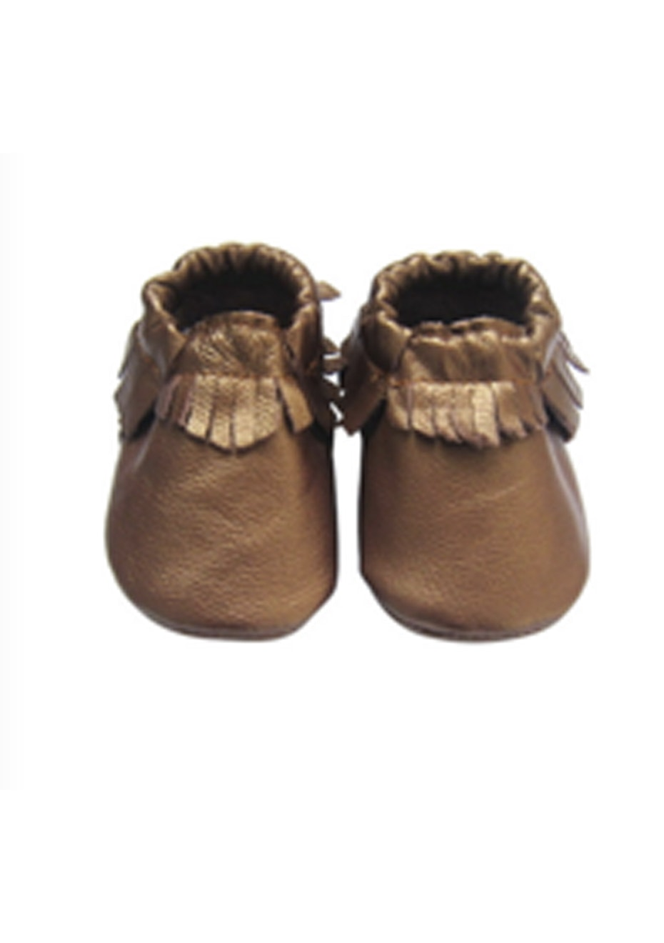 Baby  Leather Shoes - Metallic Brown