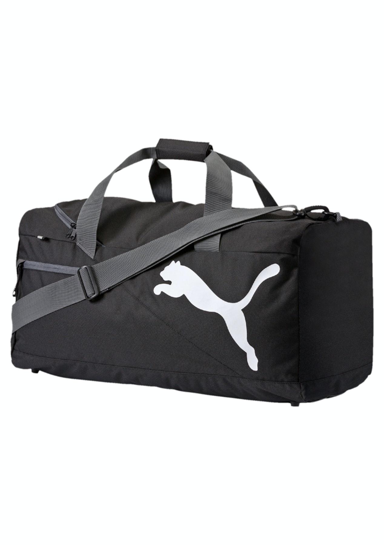 1d4eb0511c22 Puma Mens - Fundamentals Sports Bag M Black - Puma Mens up to 67% Off -  Onceit