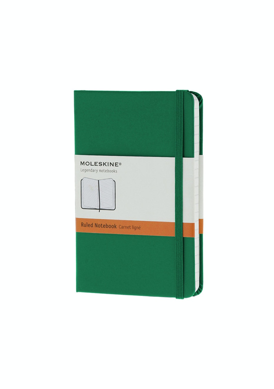 Moleskine - Classic Hard Cover Notebook - Ruled - Pocket - Oxide Green