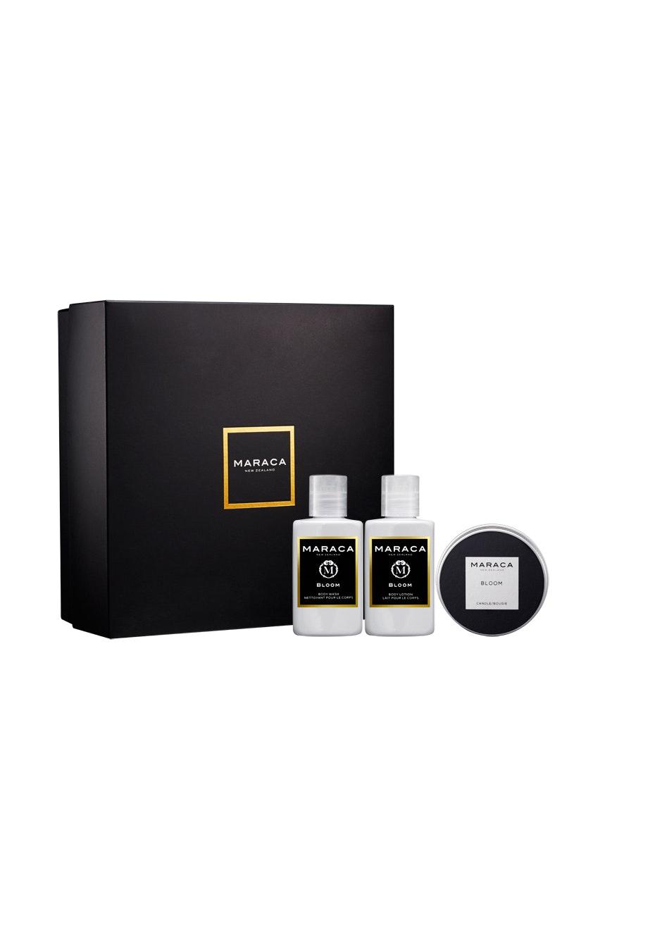 Maraca - Bloom Travel Pack (Body Wash 100ml + Body Lotion 100ml + Travel Candle 80g)