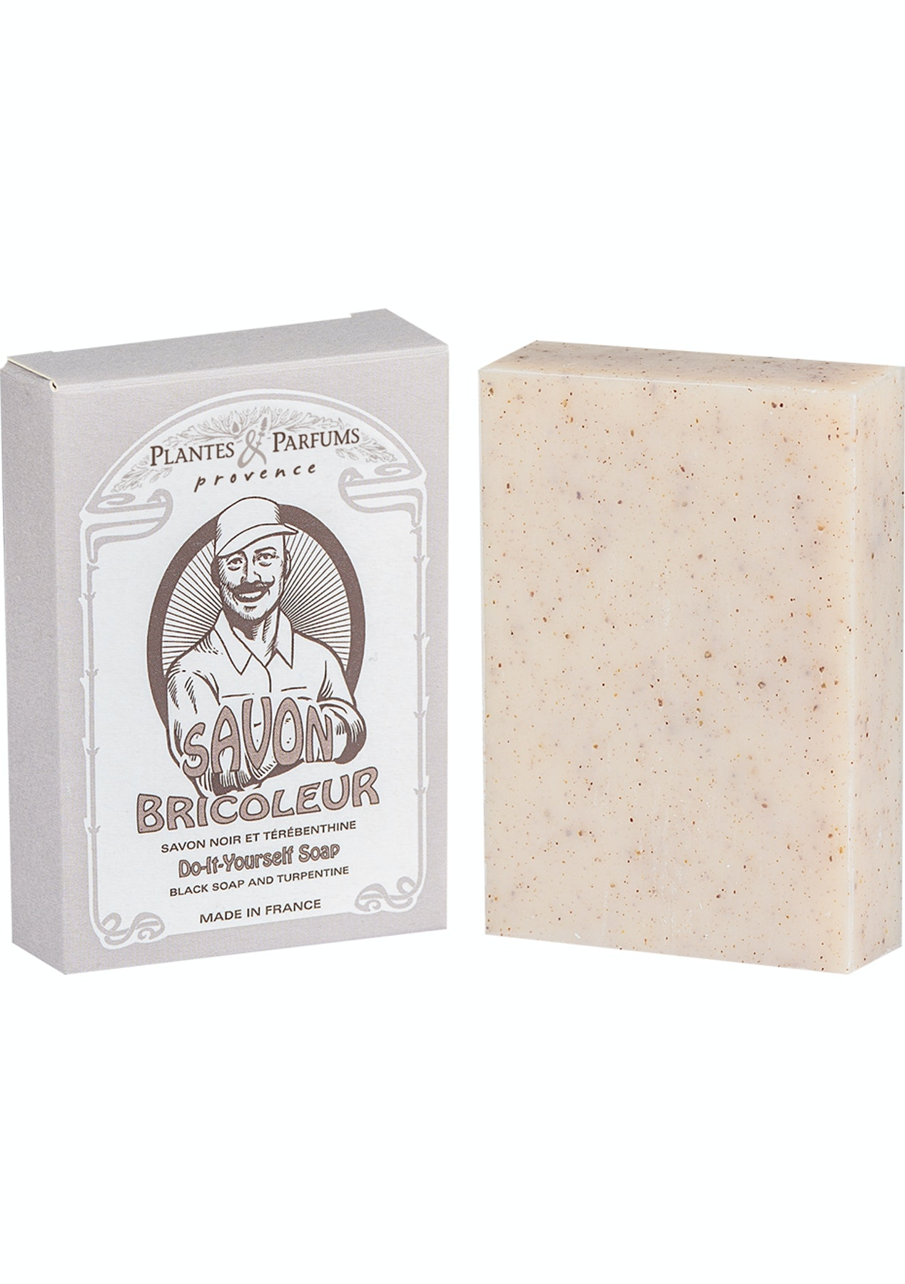 Plantes & Parfums - Savons Bricoleur 100g Do-It-Yourself Soap- Black Soap  and Turpentine