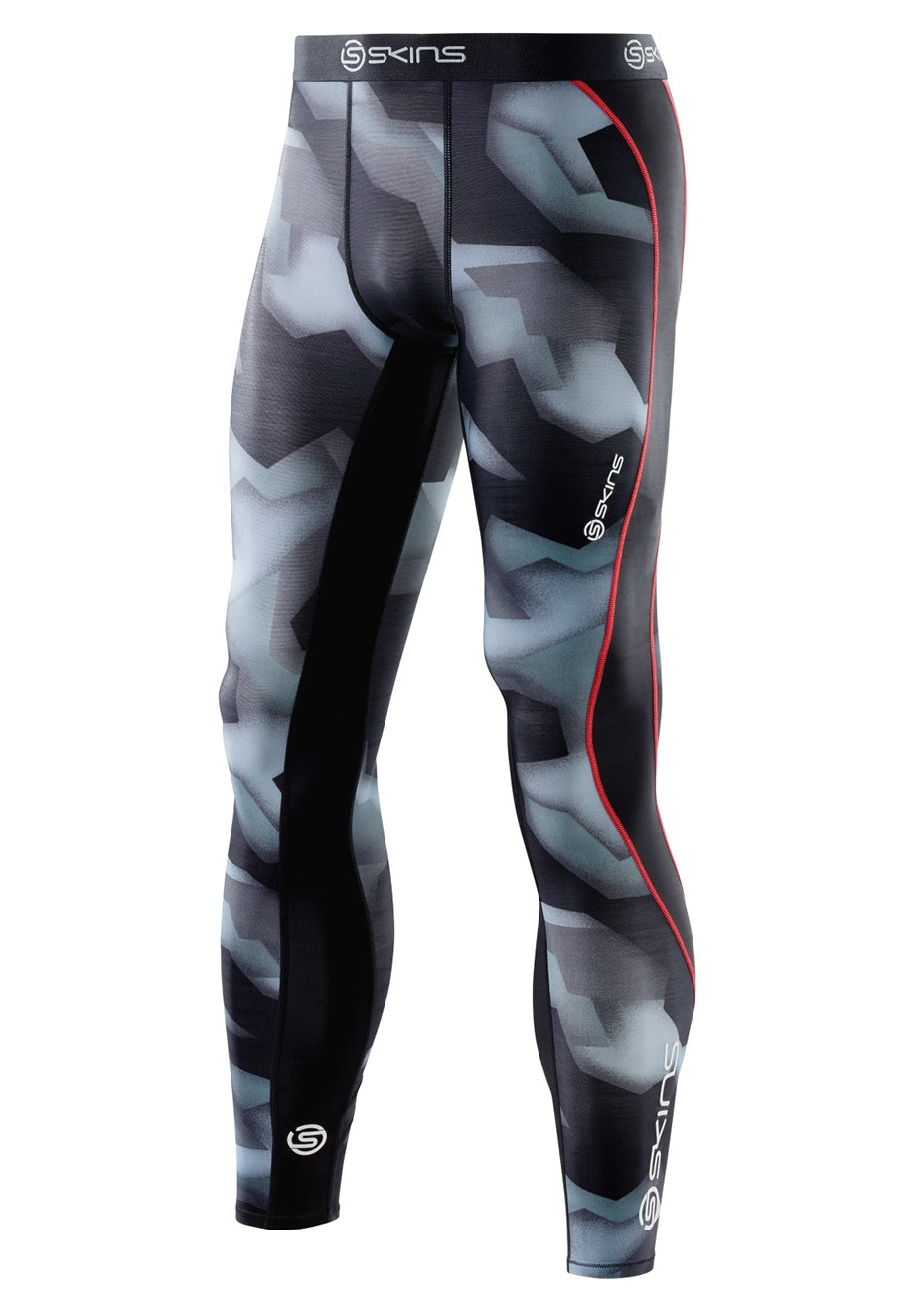 Skins - DNAmic Mens Long Tights Glitch Camo