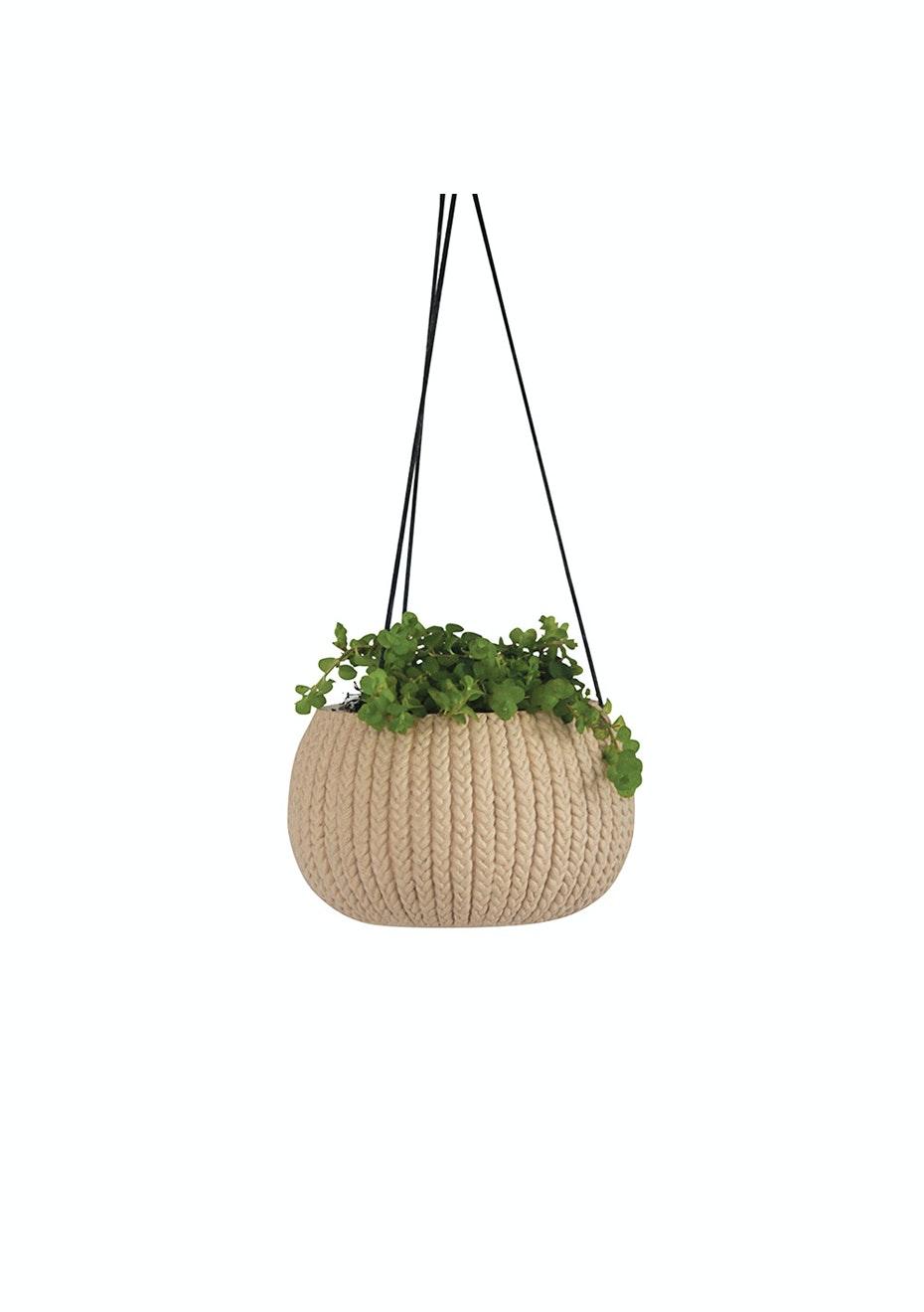 Me & My Trend - Blush Knit Hanging Basket