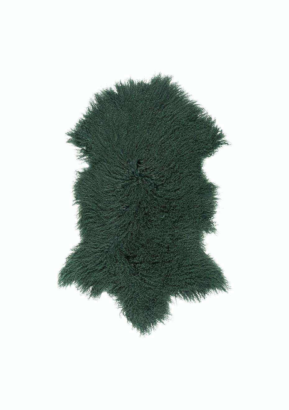 Picture of: Mongolian Sheepskin Rug Emerald Green Dyed Emerald Green Cowhides And Sheepskins Onceit