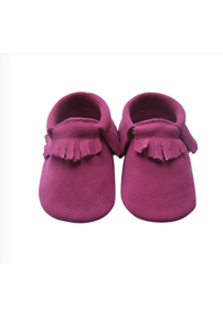 Baby  Leather Shoes - Deep Pink