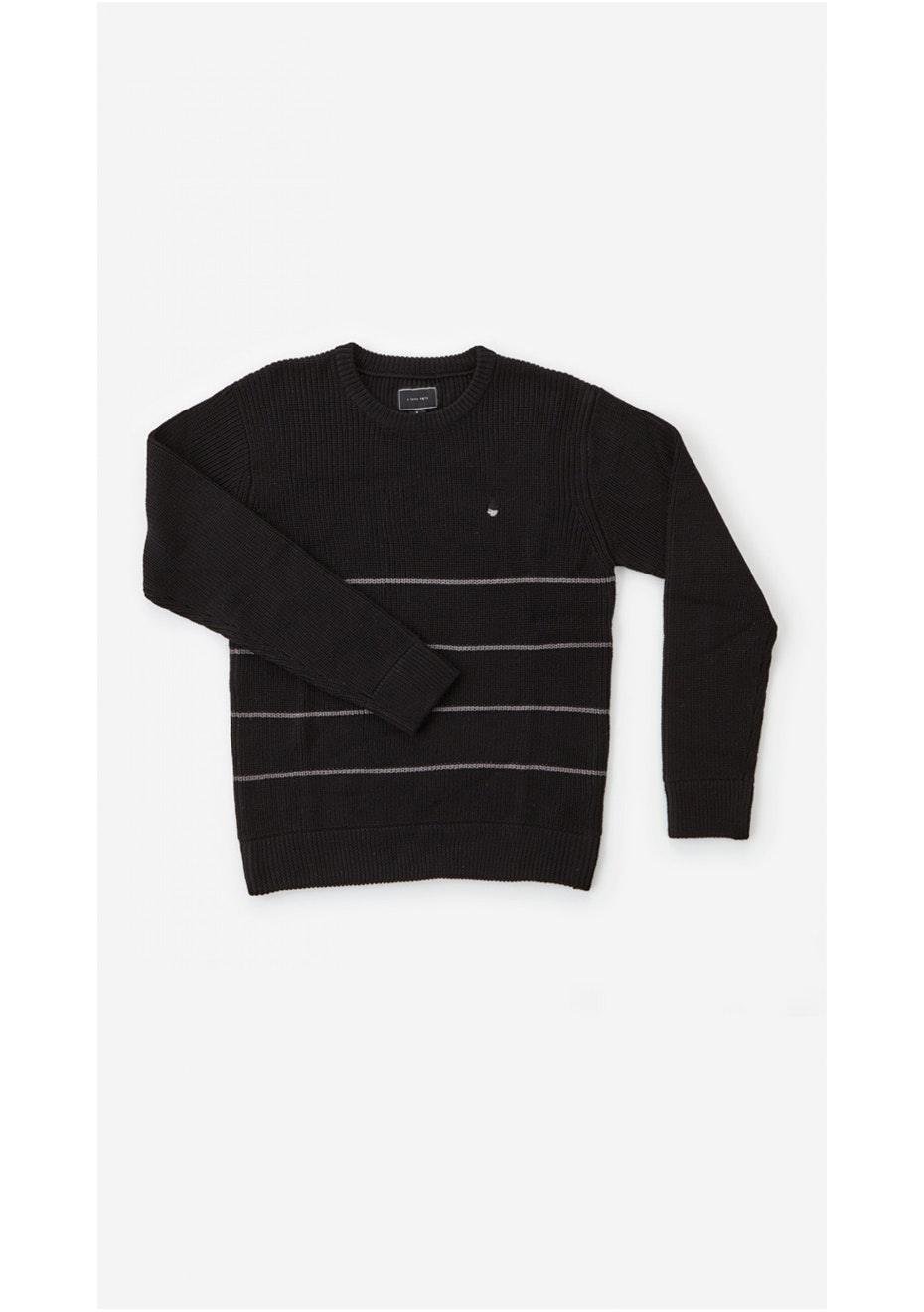 I Love Ugly - Black Stripe Knitted Sweater