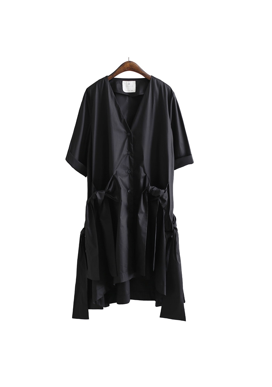 Gurlian Tie Dress - Black
