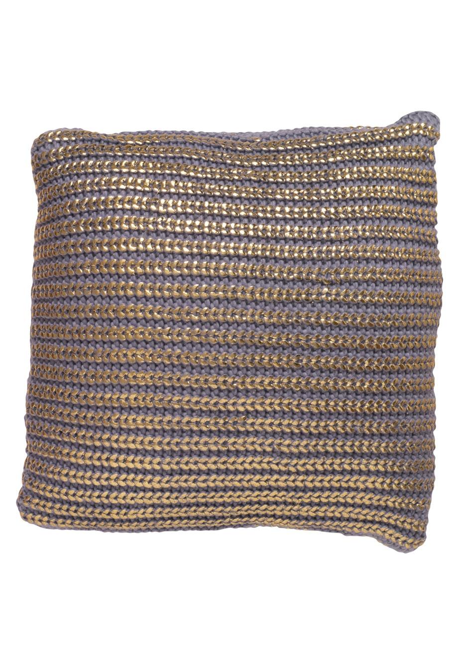 Jason - Gold knit cushion