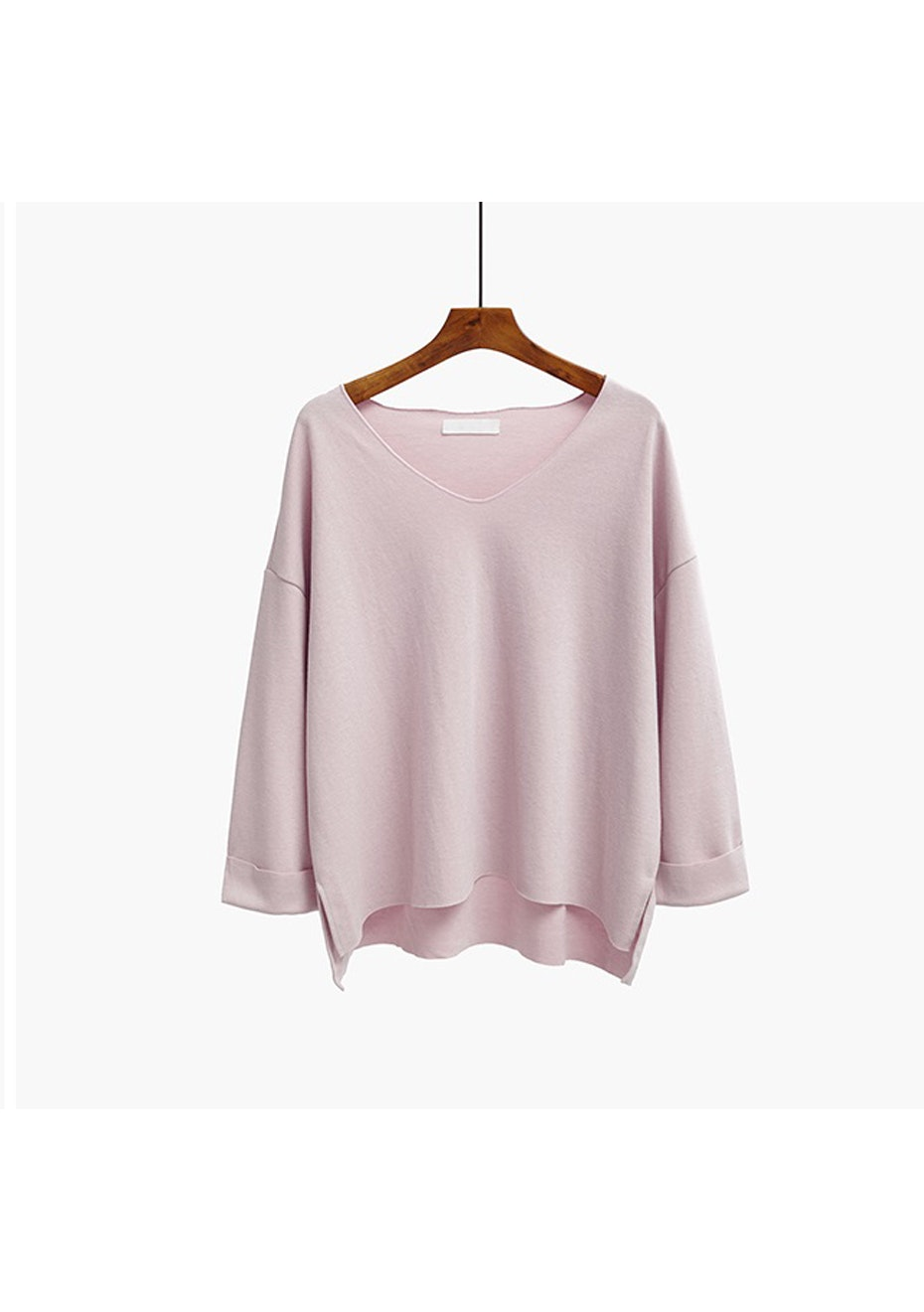 Gillian V Neck Jumper - Blush