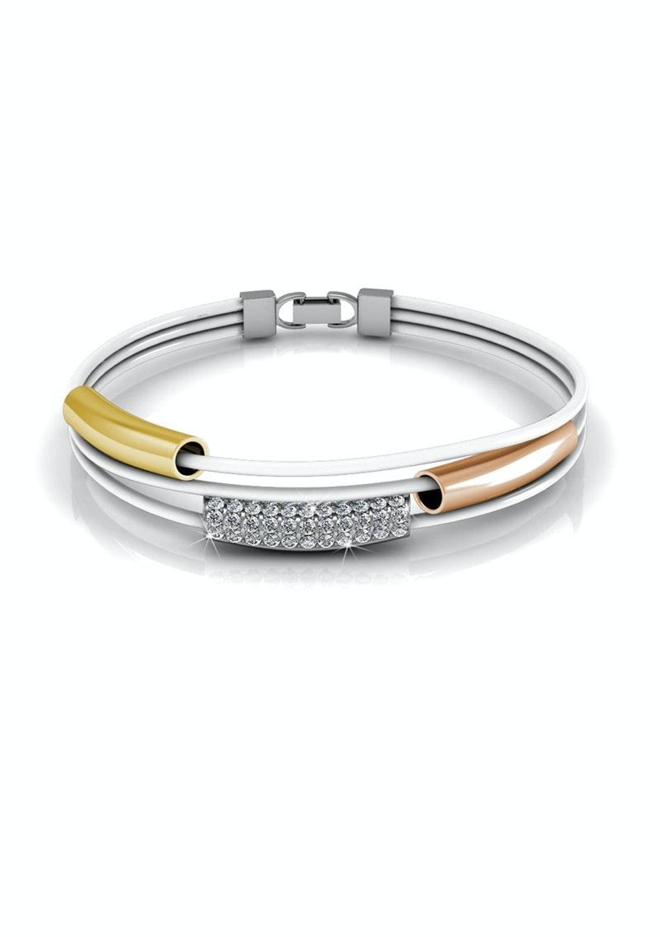 Tri-Bracelet Ft Swarovski Elements
