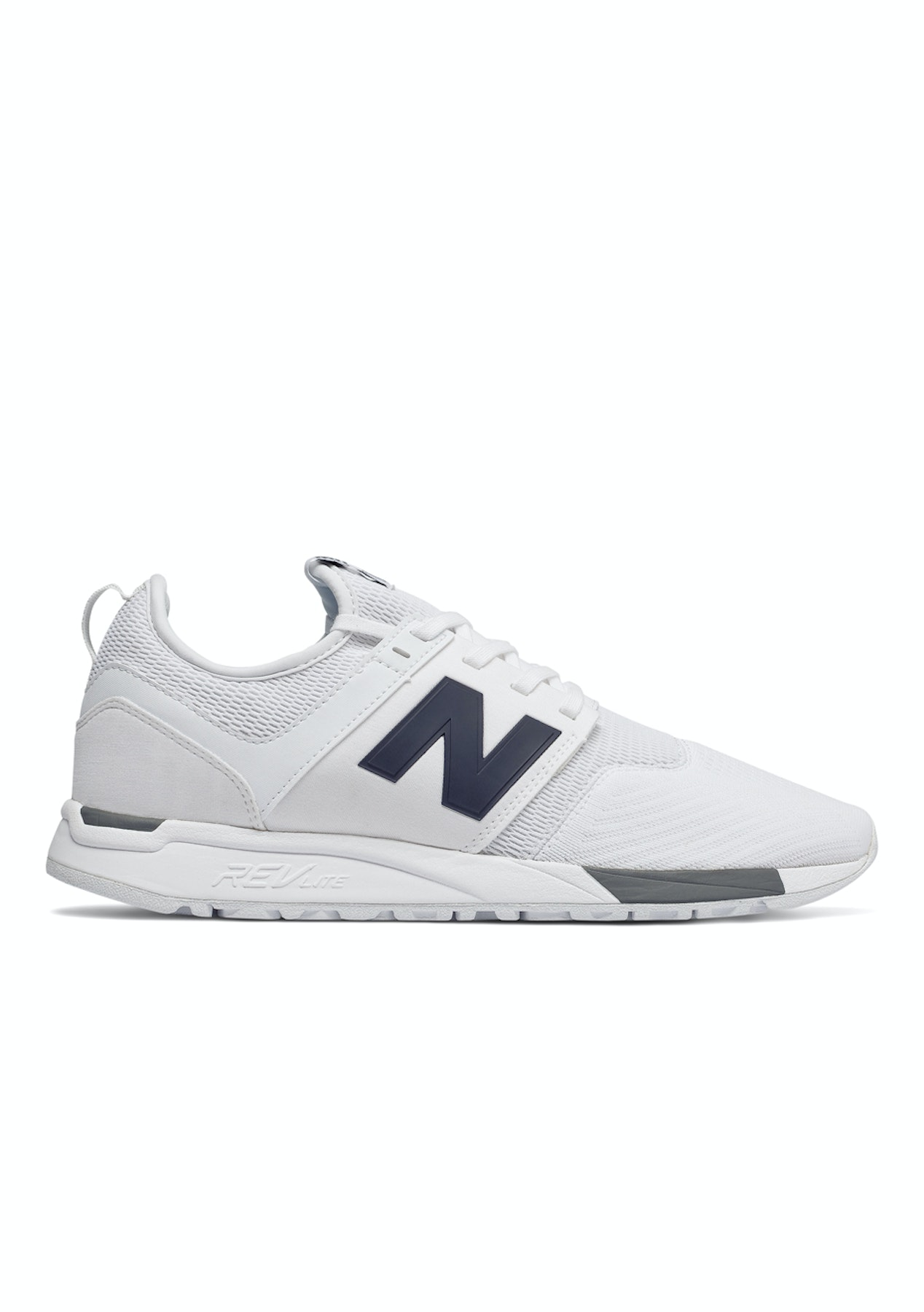 323ec63cb26 New Balance Mens - 247 Classic - White with Grey   Navy - Boxing Day New  Balance - Onceit