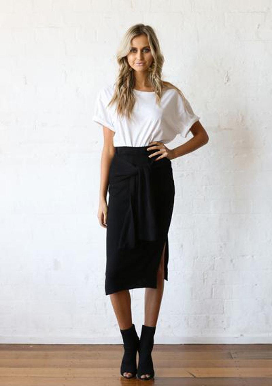Madison - Rosie Tie Skirt - Black