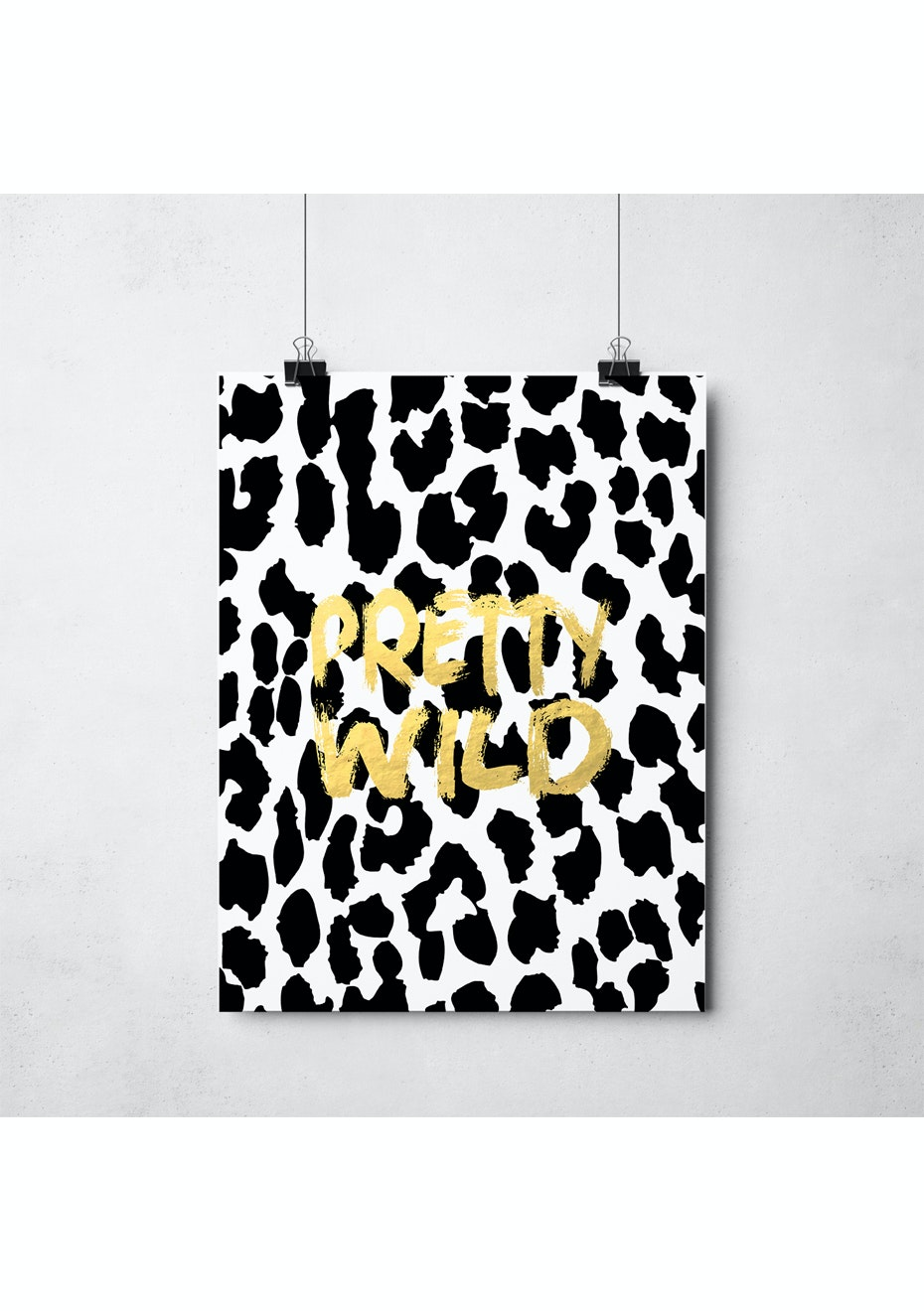 Simply Creative - Pretty Wild - A3 Gold Foil Print